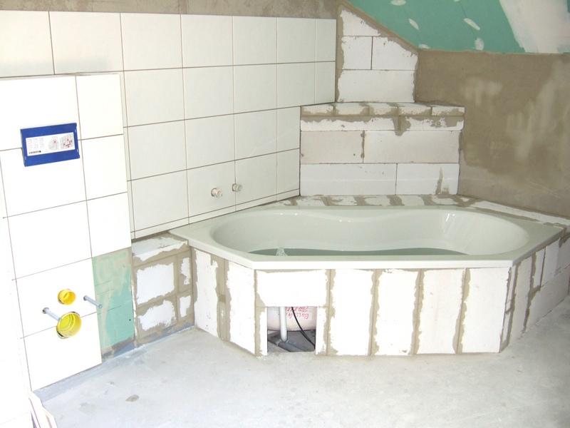 Wanne Mit Ytong Einmauern : Das Bad Nimmt Formen An ? Hausbau